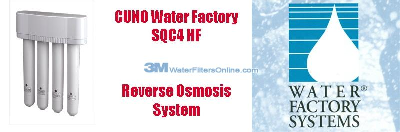 Water Factory SQC4 HF CUNO 3M Reverse Osmosis System
