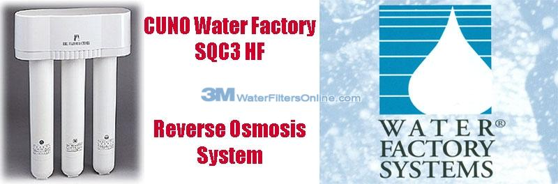 Water Factory SQC3 HF 3M CUNO 04-045 Reverse Osmosis System
