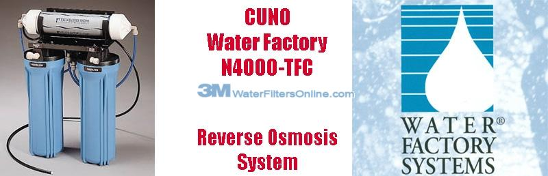 Water Factory N4000 TFC 3 Stage Reverse Osmosis System