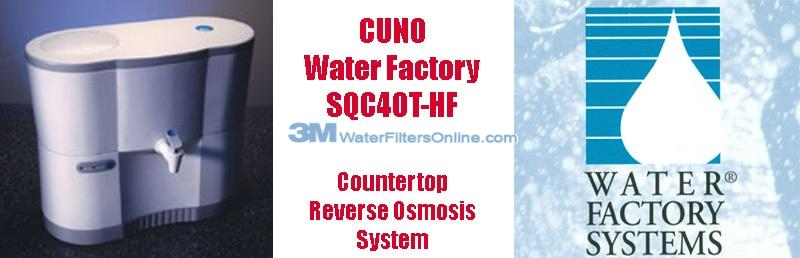 Water Factory SQC40T HF CUNO 3M Countertop Reverse Osmosis System