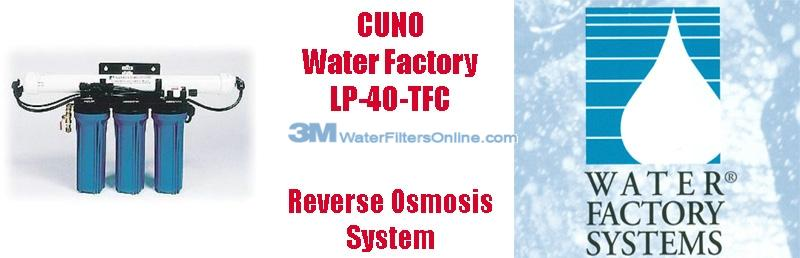 Water Factory LP-40 TFC 06-522 Commercial 4 Stage Reverse Osmosis System