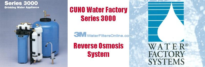 Water Factory Series 3000 3 Stage Reverse Osmosis System